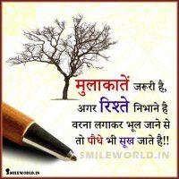 Mulakat Rishte Relationship Quotes in Hindi