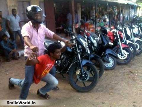 Indian Boy Funny Bike Photos for Facebook