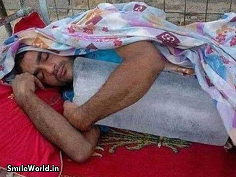 Indian Boy Sleeping With Ice Hot Summer Funny Photos