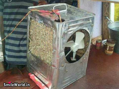 Indian Jugaad Cooler Funny Garmi Images