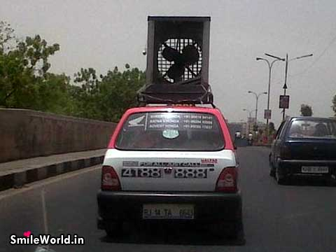 Maruti 800 Funny Cooler Garmi Hot Summer in India