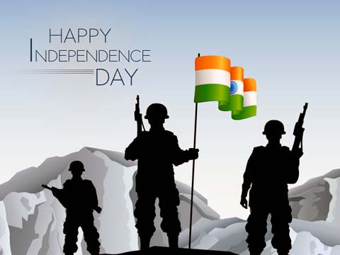 15 August Independence Day Greeting Card