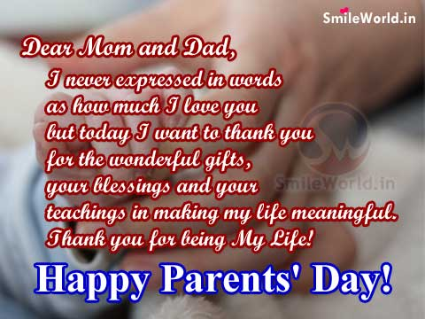 Best Messages for Mom and Dad on Parents Day