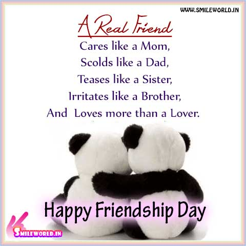 Happy Friendship Day A Real Friend Wishes