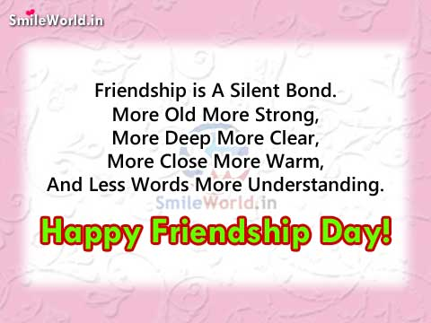Quotes About Close Friendship Bonds Fascinating Friendship Is A Silent Bond Happy Friendship Day Quotes