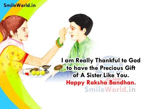 Raksha Bandhan Greetings Wishes for Sister