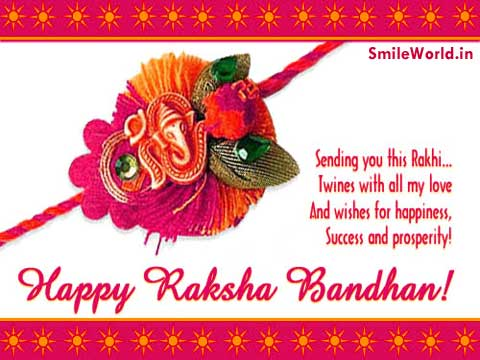 Raksha Bandhan Picture Message for Facebook