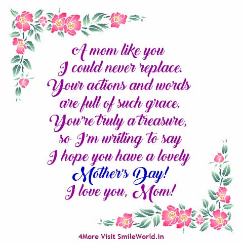 I hope you have a lovely Mothers Day