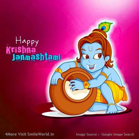 Happy Kirishna Janmashtami Wishes in Hindi