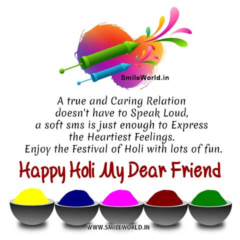 Happy Holi My Dear Friend Wishes With Images