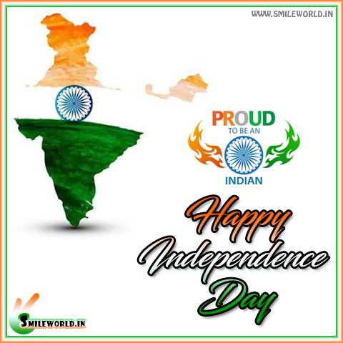 India Map Happy Independence Day of India Status Images for Whatsapp