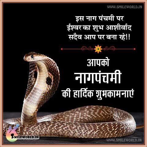 Nag Panchami Wishes Wallpaper in Hindi