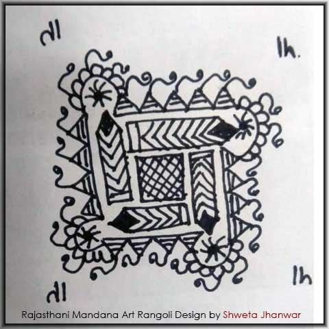 Easy Mandala Design by Shweta Jhanwar