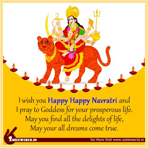 Happy Navratri Images in English Status for Whatsapp