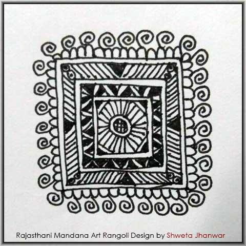 Mandala Art Rangoli Designs by Shweta Jhanwar