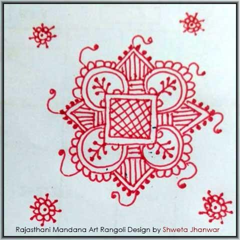 Mandana Designs for Diwali by Shweta Jhanwar