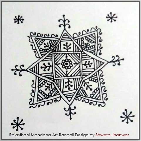 Simple Mandala Design by Shweta Jhanwar