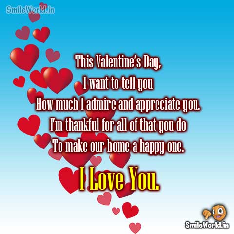 Valentine Day I Love You Wishes for Girlfriend