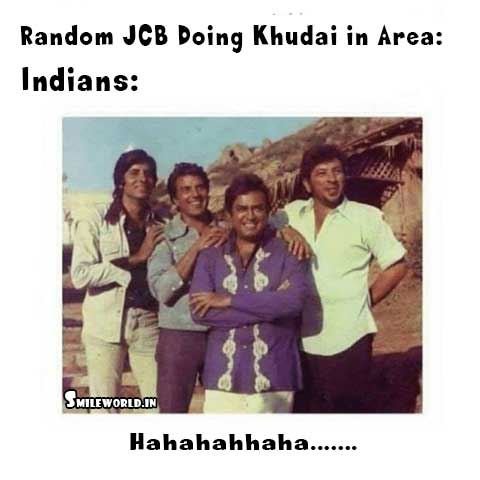 Indian Watching JCB Ki Khudai Funny Meme