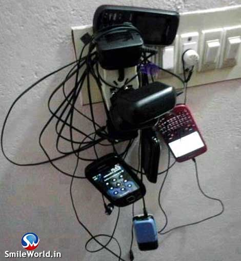 Mobile Charging Funny Jugaad Photos