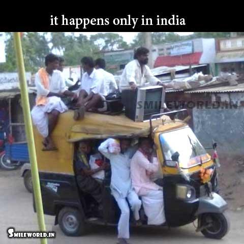 Overloaded Auto Rickshaw Funny Indian Transport