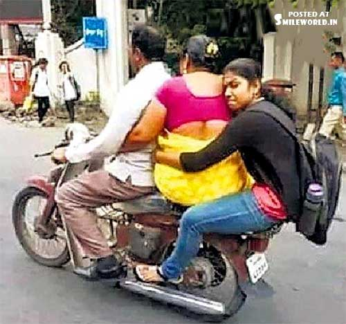 Funny Bike Overloading Riding Pictures