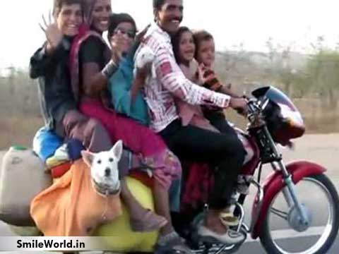 Funny Bike Overloading in India Pictures
