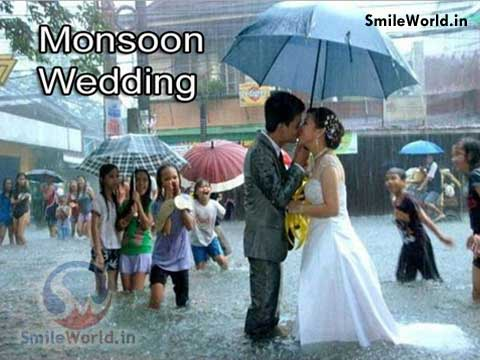 Monsoon Season Wedding Funny Photos