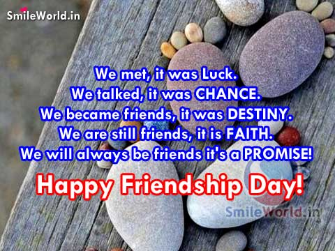 Always be Friends it's A PROMISE! Happy Friendship Day!