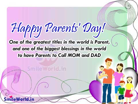Happy Parents Day Quotes and Sayings Images