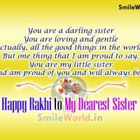Happy Rakhi to My Dearest Sister Wishes Images