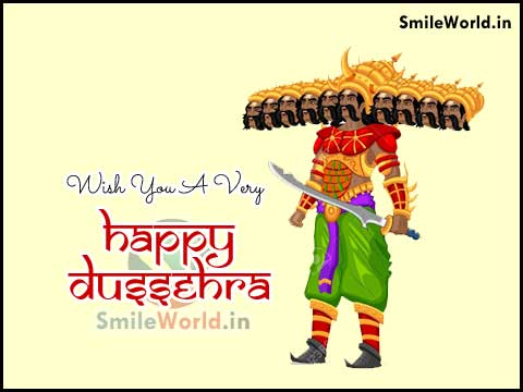 English Wish You A Very Happy Dussehra Greetings