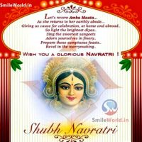 Happy Navratri Greeting Cards Wishes in English Images