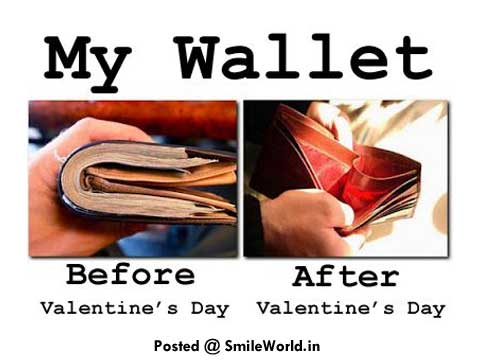 After And Before My Wallet Funny Valentine Day