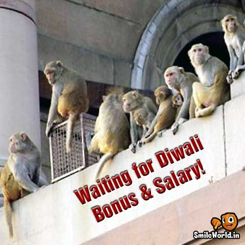 Waiting for Diwali Bonus & Salary Funny
