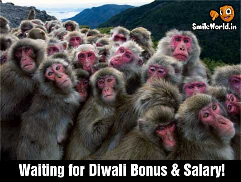 Waiting for Diwali Bonus & Salary Funny Picture