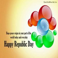 Happy Republic Day English Greeting Cards