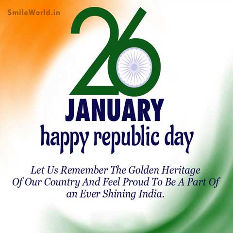 Happy Republic Day English Wishes Images