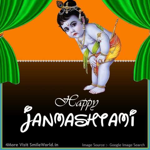 Cute Happy Janmashtami Image for Facebook