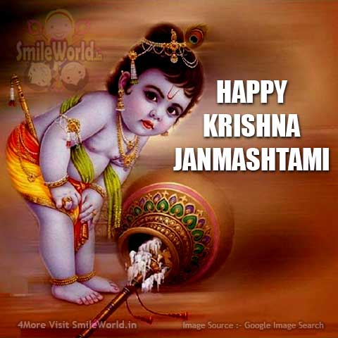 Happy Janmashtami Images in English for Facebook Status