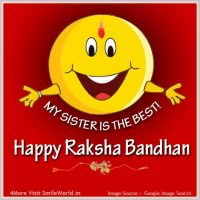 My Sister is the best Happy Rakhi Images
