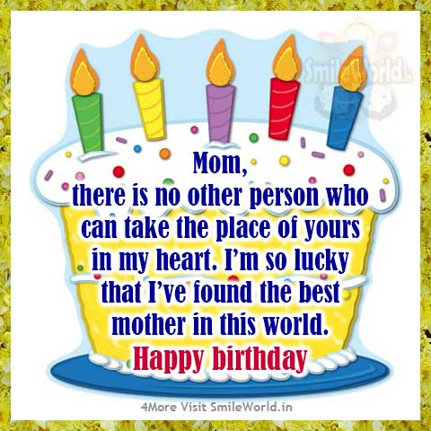 Fine Happy Birthday Mom Wishes Messages In English Smileworld Personalised Birthday Cards Paralily Jamesorg