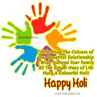 I Wish You and Your Family Happy Holi Status Wishes SMS