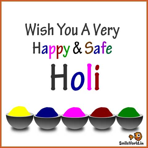 Wish You A Very Happy and Safe Holi