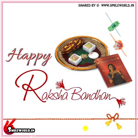 Cute Happy Raksha Bandhan Wishes Messages for Sister Images