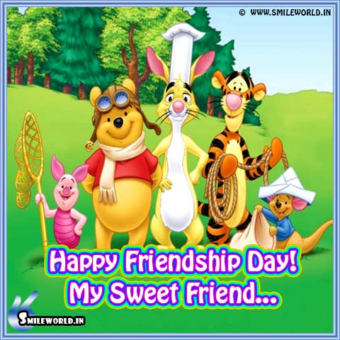 Cute Cartoon Character Happy Friendship Day Images