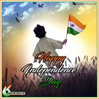 Cute Little Kids Happy Independence Day Wishes Wallpaper