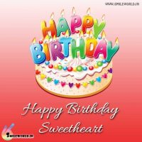 Happy Birthday Sweetheart Cake Image