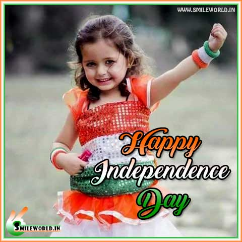 Happy Independence Day Cute Girl Images for Whatsapp Status