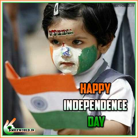 Happy Independence Day Little Cute Girl Images Wallpaper Wishes